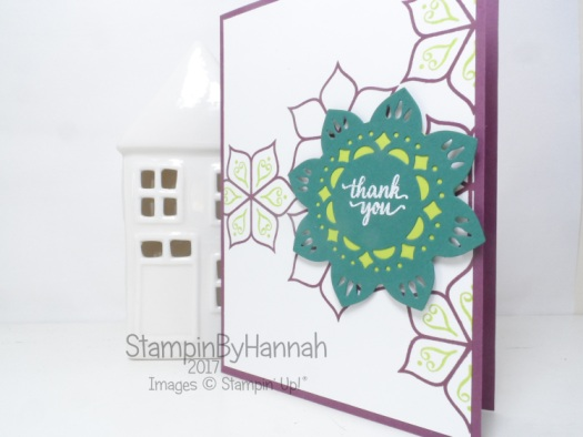 Thank you card using the Eastern Palace Suite from Stampin' Up! UK