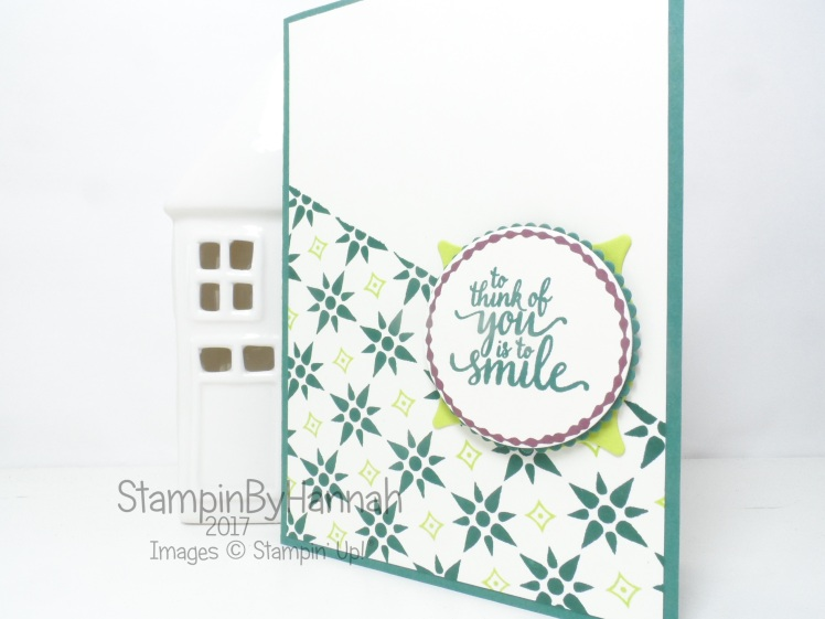 Make It Monday Video Tutorial Card making stamping with Eastern Beauty from Stampin' Up!
