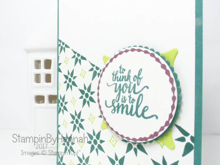 Make It Monday Video Tutorial making backgrounds with small stamps using Eastern Beauty from Stampin' Up!