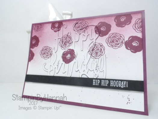 Stampin' Up! In Colour 2017 Fresh Fig Happy Birthday Gorgeous Floral Birthday card