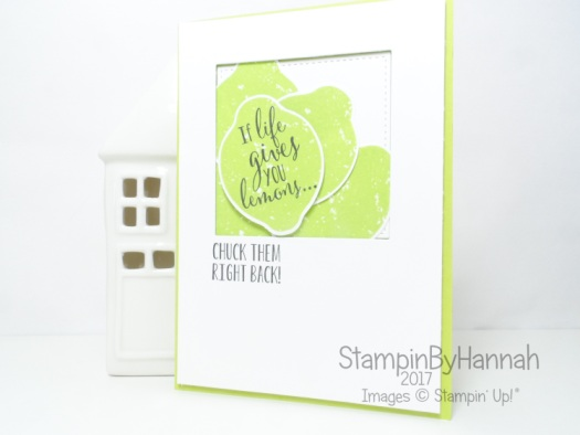 Stampin' Up! 2017 In Colour Lemon Lime Twist Lemon Zest Fun Lemon Card