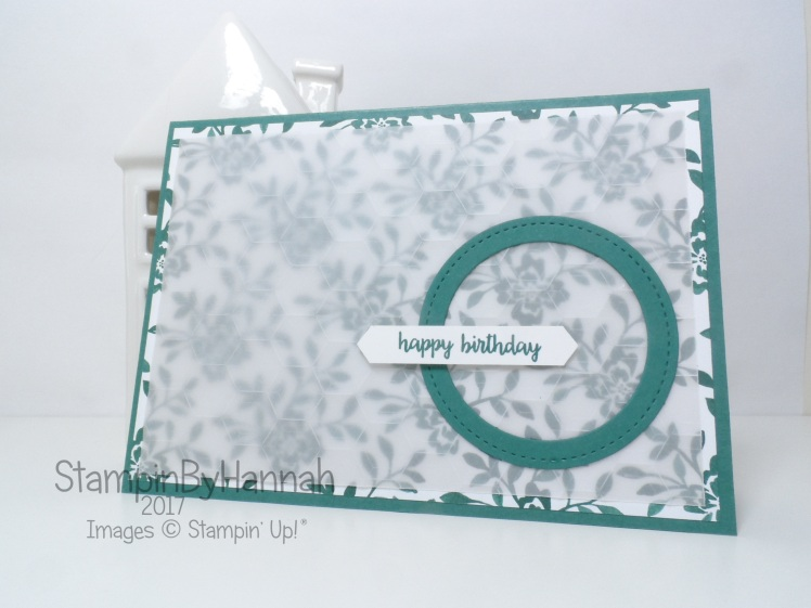 Stampin' Up! 2017 In Colour Tranquil Tide Happy Birthday Card using Fresh Florals and Happy Birthday Gorgeous