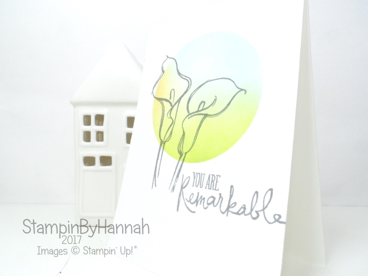 Pootles Papercraft Design Team Remarkable You One Layer Ink Blended Just Because Card using Stampin' Up! products