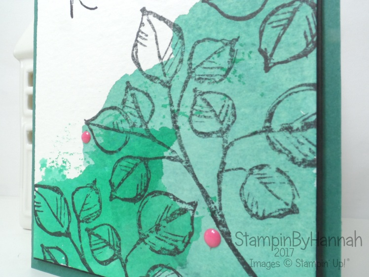 Pootles Papercraft Design Team Ink Smooshing Watercolour Just Because Card using Remarkable You from Stampin' Up!