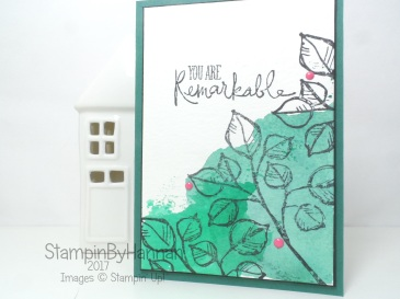 Pootles Papercraft Design Team Just Because Card using Remarkable You from Stampin' Up!