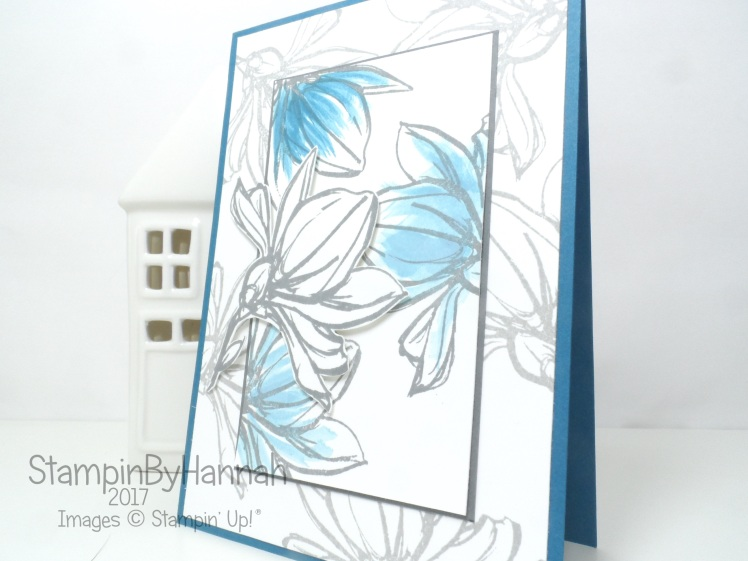 Pootles Papercraft Design Team June 2017 Floral Just Because Card using Remarkable You from Stampin' Up!