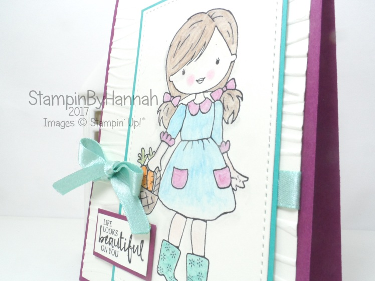 Stampin' Up! Just Because card using Beautiful You and Garden Girl