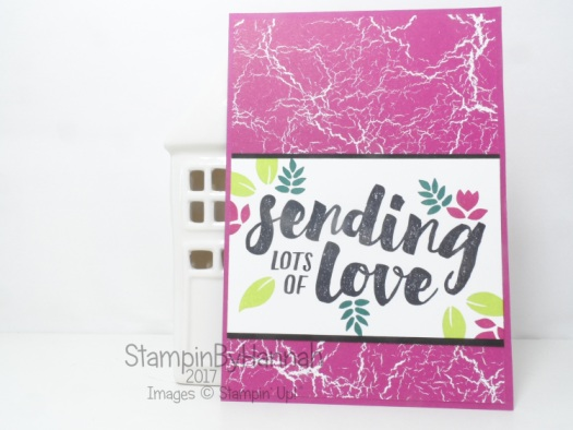 Sending Love card using Lots of Love and Colour Theory from Stampin' Up!