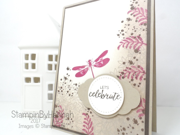 How to make a shabby chic congratulations card using Awesomely Artistic from Stampin' Up!