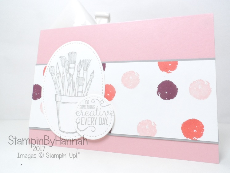 Simply Sketched Saturday Challenge Colour Challenge Creative Card using Work of Art and Crafting Forever from Stampin' Up!