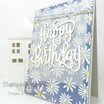 Happy Birthday Card using Delightlful Daisy and Happy Birthday Thinlit from Stampin' Up!