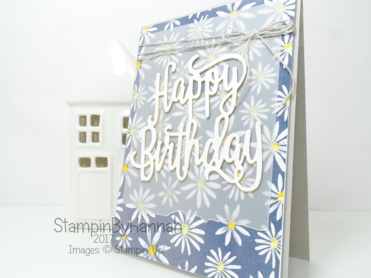 Delightful Daisy Birthday Card Stampinbyhannah Stampin Up Uk