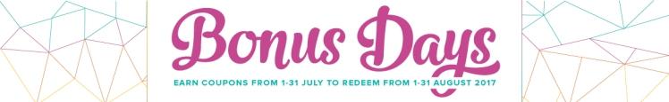 Stampin' Up! Bonus Days July 2017