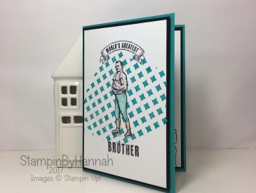 Guy Greetings Birthday Card using Embossing Paste from Stampin' Up!