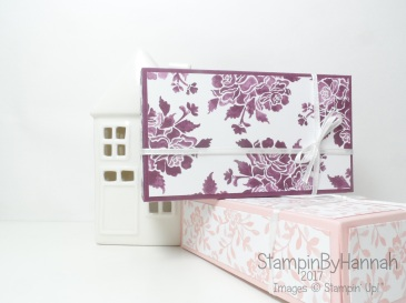 Make It Monday Video Tutorial Fold Flat giftbox using Fresh Florals from Stampin' Up!