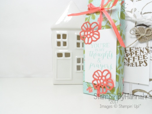 Make It Monday Yankee Candle Gift Bag Video Tutorial using Floral Petal Garden Designer Series Paper from Stampin' Up!