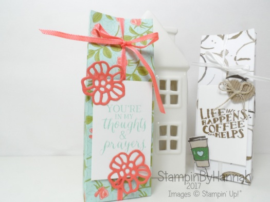 Make It Monday Pootles Papercraft Yankee Candle Gift Bag using Petal Garden Designer Series Paper from Stampin' Up!