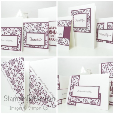 One Sheet Wonder using Fresh Florals from Stampin' Up!