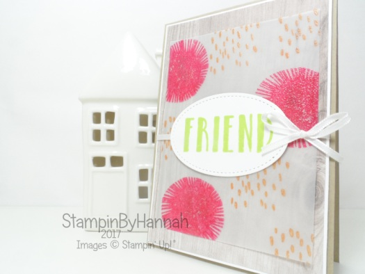 Simply Sketched Saturday Blog Hop Lovely Inside and Out Friend Card using Stampin' Up! products