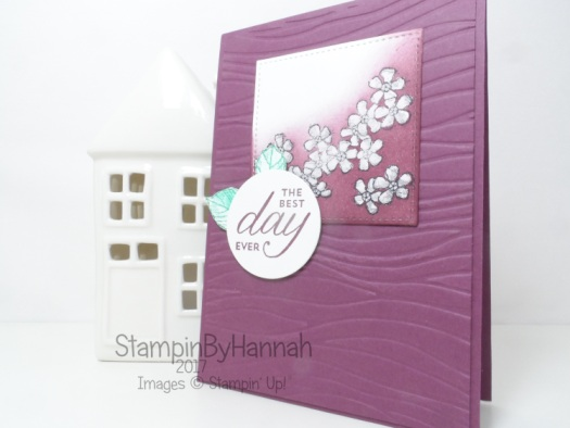 Techniques series masking video tutorial masking with glue floral card using Birthday Blossoms from Stampin' Up!