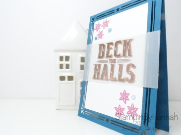 Make It Monday Quick and Easy Christmas Card in non-traditional colours using Carols of Christmas from Stampin' Up!