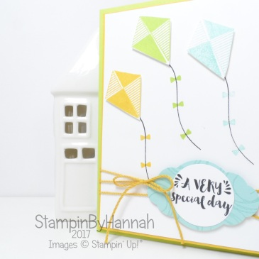 Children's birthday card using Swirly Bird from Stampin' Up! TGIF Challenges